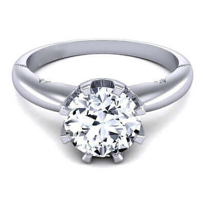 AU1790.77 • Buy 0.60 Ct Round Cut 950 Platinum Diamond Ring Solitaire Women Rings Size 7 8 6 5 4