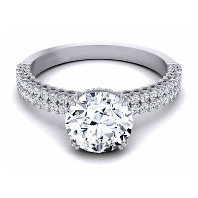 AU1851.28 • Buy Natural Diamond Engagement Solitaire Ring 0.90 Ct 18K White Gold Size 6 7 8 9