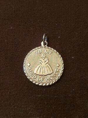 $9.99 • Buy Sterling Silver Vintage Charm Pendant To My Maid Of Honor
