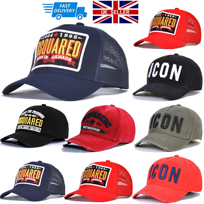 Unisex Dsquared2 Cap Icon Caps Snapbacks Baseball Cap Hat Uk Xmas Gifts • 10.99£