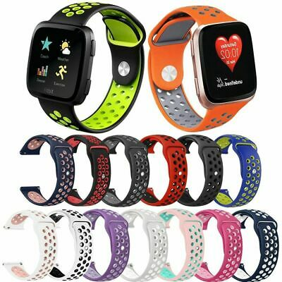 $ CDN3.75 • Buy For Fitbit Versa 1 2/Lite Breathable Wrist Band Sport Watch Bands Strap Silicone