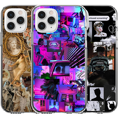 AU16.95 • Buy Silicone Cover Case Pop Culture Collage Girl Cute Power Art Poetry Love Romance