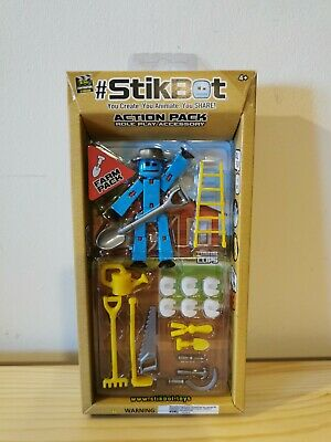 Stikbot Action Pack Role Play Accessory Farm Pack Pack New/Sealed FREE P&p Blue  • 10.95£