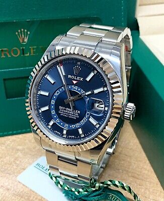 Rolex Sky-Dweller 326934 Stainless Steel 42mm Blue Dial With Papers 2020 UNWORN • 22,250£
