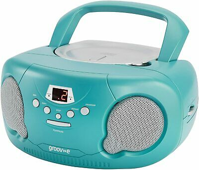 GROOV-E Boombox Portable CD Player With AM/FM Radio GV-PS733 LED Display - Teal  • 26.99£