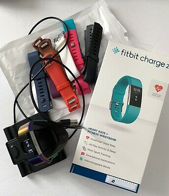 $ CDN25.30 • Buy Fitbit Charge 2 Heart Rate, Fitness - Magnetic Wristband, Charger Stand, + Bands