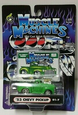 AU5.08 • Buy Muscle Machines '53 Chevy Pickup Green 01-7 1:64 1/64