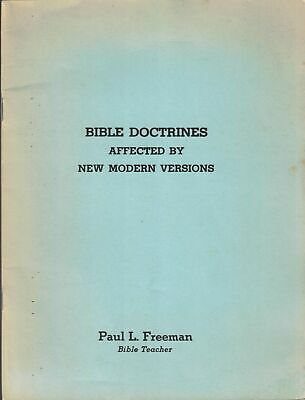 $ CDN20.13 • Buy Bible Doctrines Affected By New Modern Versions By Paul L. Freeman