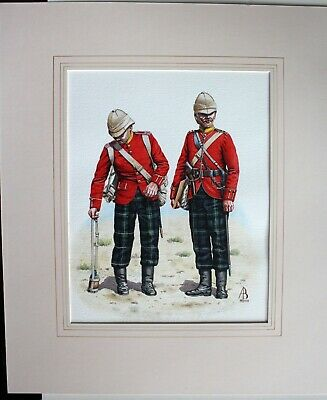 $99.95 • Buy PRIVATE & CAPTAIN The Highland Light Infantry Original Painting By ALIX BAKER!