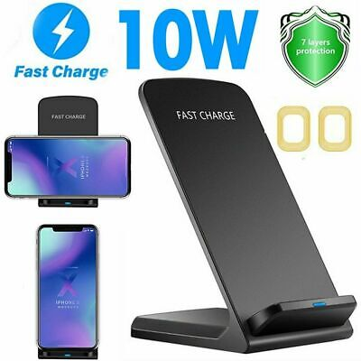 AU13.99 • Buy AU Qi Fast Wireless Charger Charging Dock Stand For IPhone 11 12 Pro Max XS X 8