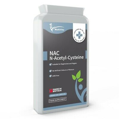 £9.97 • Buy N-Acetyl Cysteine (NAC) 600 Mg 120 Capsules - Liver & Lung Function Support UK