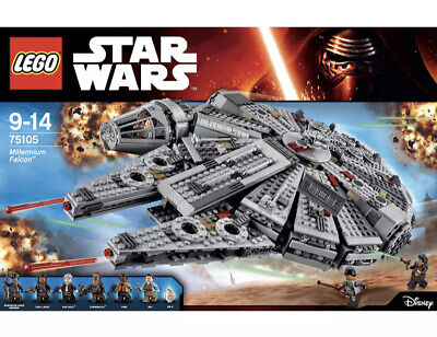 Lego Star Wars Millenium Falcon (75105) - Retired Product - No Box - With Manual • 43£