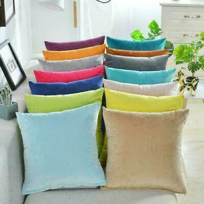 40x40cm Soft Velvet Cushion Cover Colorful Plain Pillowcase Home Bed Sofa Decors • 5.39£