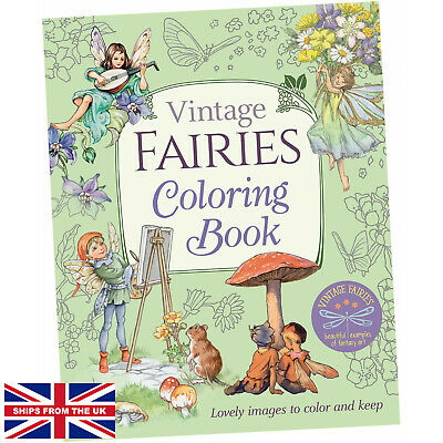£11.25 • Buy Vintage Fairies Coloring Book - Margaret Tarrant (Paperback) - Lovely Images ...