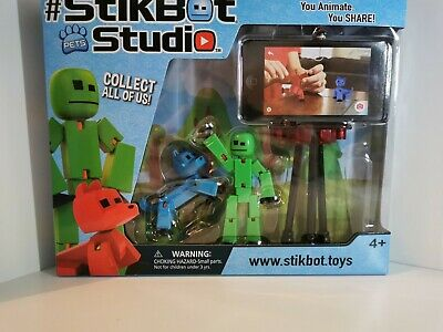 Stikbot Studio Pet Kid Stickbots Stop Motion Animation Making Toy New FREE P&P • 13.95£