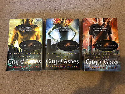 The Mortal Instruments Book Set By Cassandra Clare -City Of Bones, Ashes & Glass • 2£
