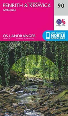 OS Landranger Map  90  Penrith & Keswick By Ordnance Survey New Map • 7.89£