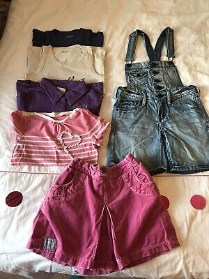 Girls Clothing Bundle Tops, Skirt And Dungaree Age 7-8 Years • 0.99£