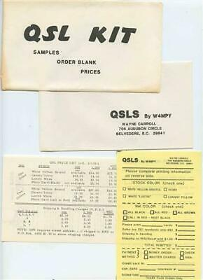 $ CDN35.52 • Buy QSL Kit Samples Order Blank And Prices For Custom QSL Cards QSLS By W4MPY