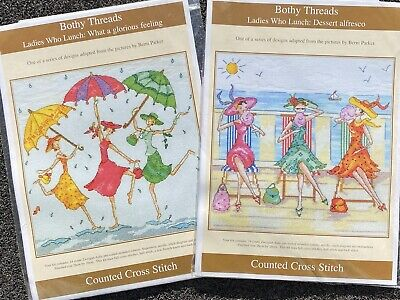 Bothy Threads Ladies Who Lunch Series Counted Cross Stitch Kits X 2 • 7£