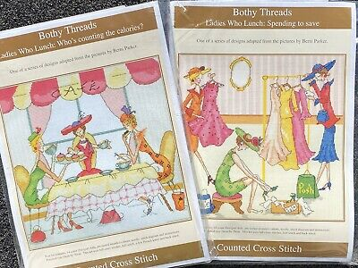 Bothy Threads Ladies Who Lunch Series Counted Cross Stitch Kits X 2 • 8£
