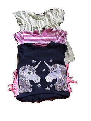 2x Girls Short Sleeved T-Shirts From Bluezoo & Tu Age 2-3 Years • 0.99£