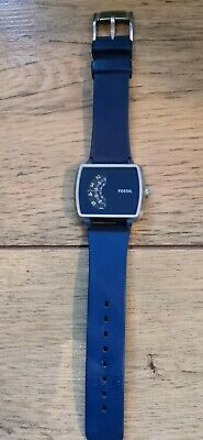 $ CDN15.04 • Buy Men's Fossil Roulette Blue Silicone Band Watch JR1289 In Box Vgc