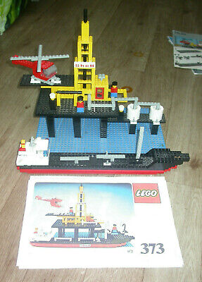 VINTAGE LEGO SHELL OIL RIG & TANKER BOAT SET 373 W MANUAL FROM 1977 Boys Toys • 75£