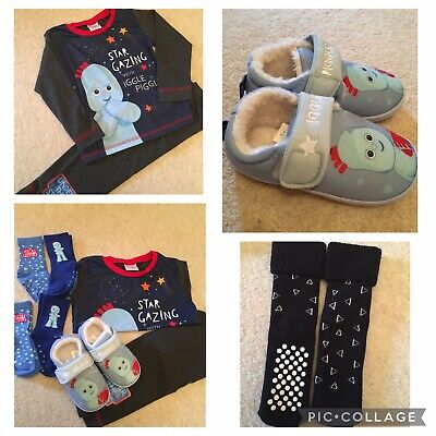 Brand New Without Tags Bundle Of Iggle Piggle Boys Pyjamas And Slippers Etc  • 7.50£