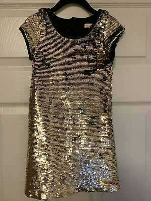 Bluezoo Girls Gold Sequin Dress Age 5 Fit 4-5 • 3.20£