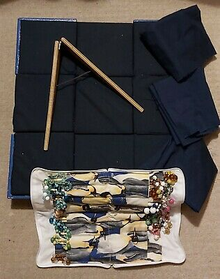 Bobbin Lacemaking Pillow, With Plastic Bobbins And Stand • 10£