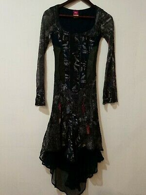 AU88.85 • Buy Save The Queen Layered/lined Nylon Dress Leather Inserts SZ S EUC !