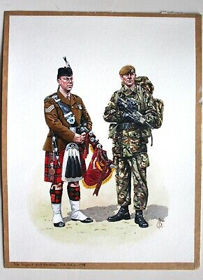 $99.95 • Buy Pipe Sergeant And Guardsman Scots Guard 1996 Painting By ALIX BAKER!