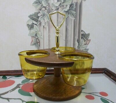 AU24.44 • Buy Condiment Server Thermo-Serv West Bend 3 Bowl Relish Tray NOS Condiment Caddy