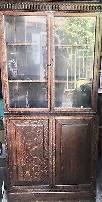 AU599 • Buy Antique 1900 English Oak Bookcase.