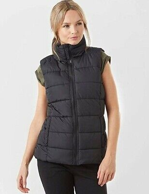 Peter Storm Black Toasty Padded Gilet Furry Lined Body Warmer. Quilted Size 8 • 0.99£