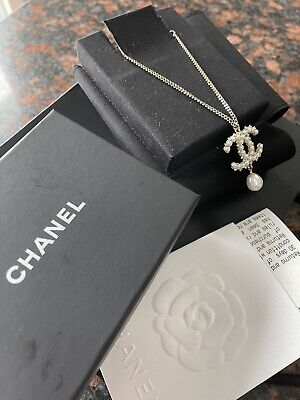 £487.80 • Buy CHANEL Authentic Necklace With Pearl, NEW Never Worn, With Purchase Receipt,Gold
