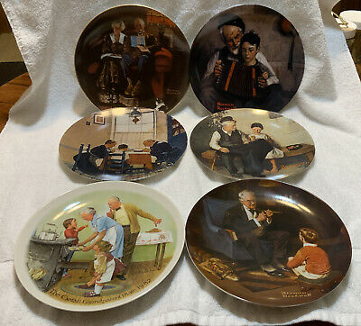 $ CDN16.07 • Buy NORMAN ROCKWELL Lot Of SIX Knowles Plates