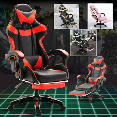 AU92.55 • Buy Ergonomic Racing Gaming Chair Computer Desk Office Chair Lift Swivel Recliner