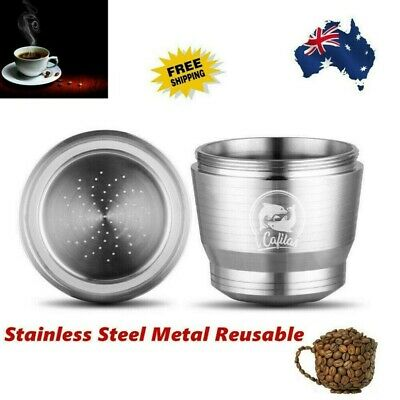 AU19.99 • Buy Stainless Steel Reusable Coffee Capsule Pod Cup Scoop For Nespresso Machine AU