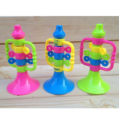 Baby Cute Trumpet Speaker Children Musical Instruments Educational Hooter Toy Pe • 3.74£
