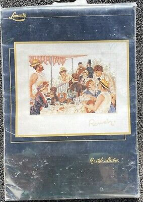 Lanarte Renoir Luncheon Of The Boating Party 33879 Counted Cross Stitch Kit • 2.40£