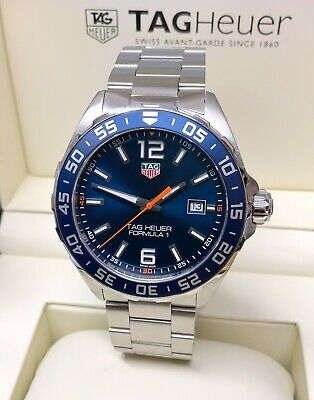 Tag Heuer Formula 1 43mm WAZ1010 Blue Dial With Papers SERVICED BY TAG HEUER • 795£