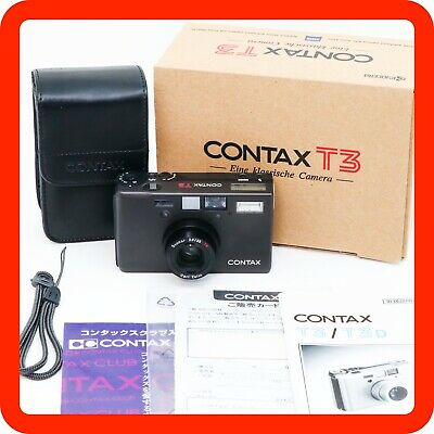 $ CDN3661.54 • Buy [TOP MINT Almost Unused] Contax T3 D T3D Black Double Teeth Point & Shoot Camera