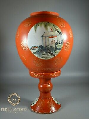 $ CDN604.53 • Buy Rare Antique Qianlong Chinese Porcelain Handpainted Famille Rose Lamp And Shade