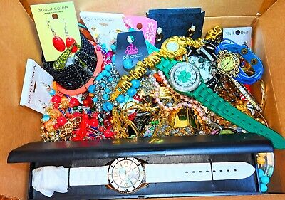 $ CDN32.82 • Buy Huge Vintage To Now Jewelry Lot Wearable 15+ Lbs Nice Items Brooches Necklaces +