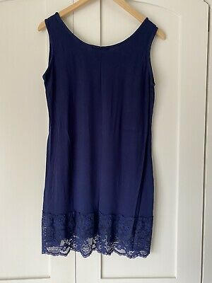 Zuppe Layering Stretch Vest, Lagenlook, Navy Blue With Lace, OSFA Up To 20 • 5.39£