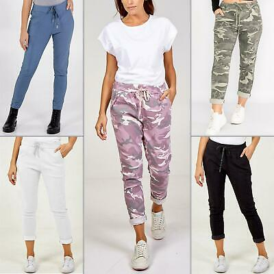 £17.99 • Buy Womens Lagenlook Italian Magic Pants Ladies Casual Stretch Jogger Style Trousers