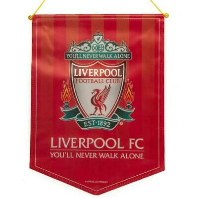 Liverpool FC Large Crest Pennant Official Merchandise • 14.99£