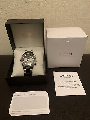 Brand New Gents Rotary Avenger Stainless Steel Chronograph Watch GB02730/04 • 30£